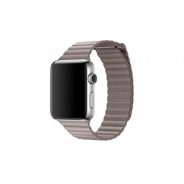Apple Loop Lederarmband Watch 42mm rauchgrau L
