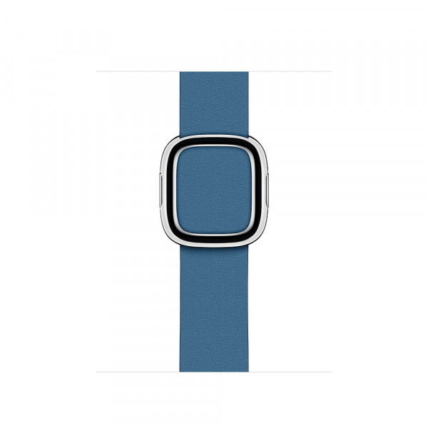 Apple modernes Lederarmband für Watch 40mm cape cod blau L