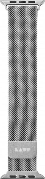 LAUT Steel Loop Apple Watch Strap 42/44 mm silber