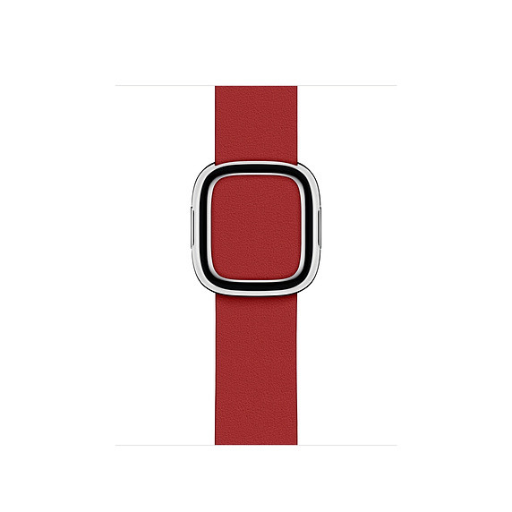 Apple modernes Lederarmband Watch 40mm rot S