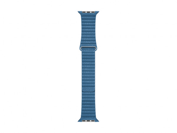 Apple Loop Lederarmband Watch 44mm cape cod blau M