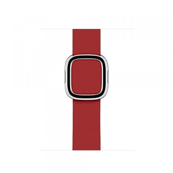 Apple modernes Lederarmband Watch 40mm rot M