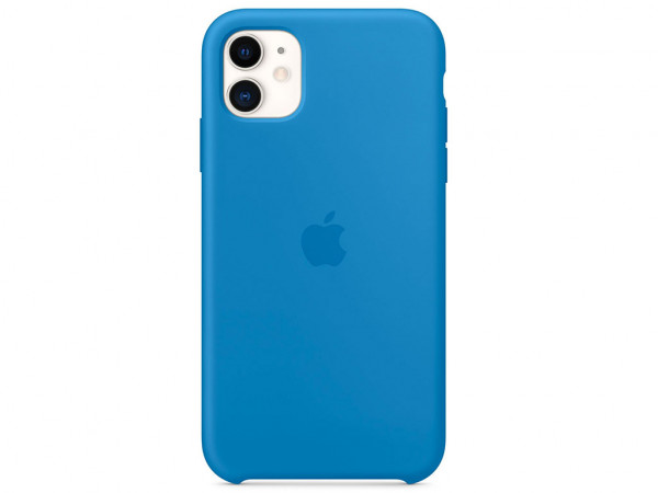 Apple Silikon Case iPhone 11 surfblau