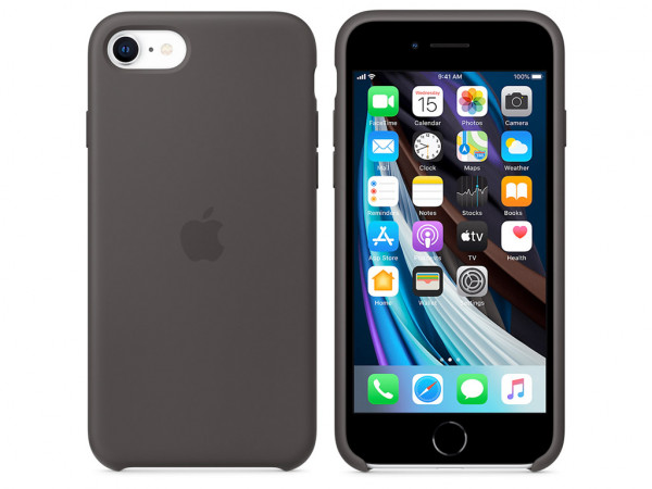 Apple Silikon Case iPhone SE 2 Gen. schwarz