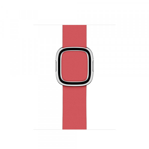 Apple modernes Lederarmband für Watch 40mm pfingstrosenpink L