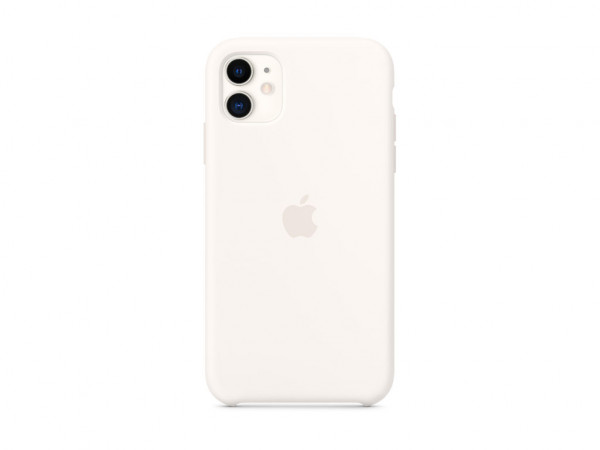 Apple Silikon Case iPhone 11 weiß