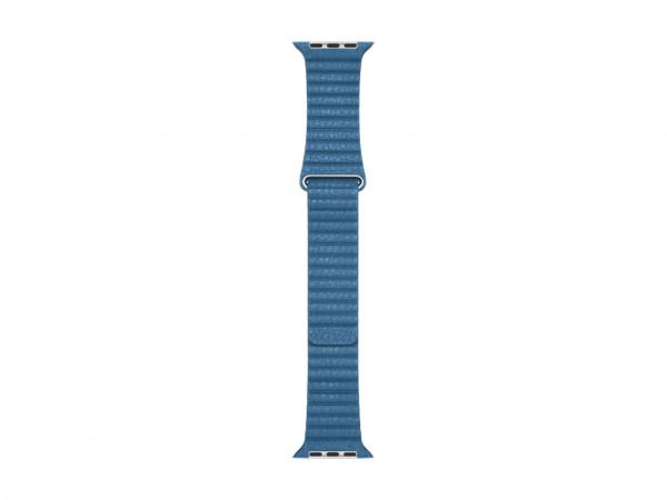 Apple Loop Lederarmband Watch 44mm cape cod blau M