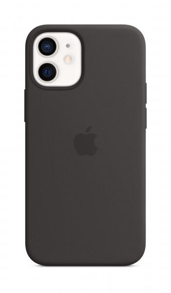 Apple Silikon Case iPhone 12 mini mit MagSafe schwarz