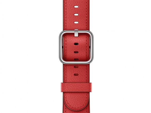Apple klassisches Lederarmband Watch 42mm rot