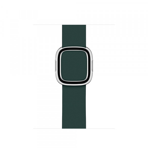 Apple modernes Lederarmband Watch 40mm waldgrün M