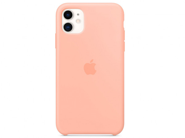 Apple Silikon Case iPhone 11 grapefruit