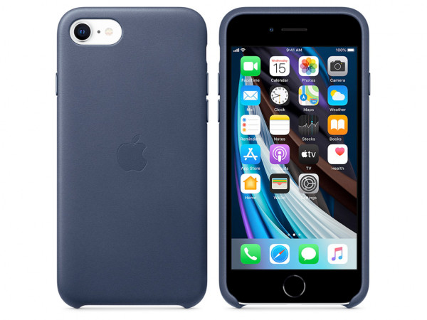 Apple Leder Case iPhone SE 2 Gen. mitternachtsblau
